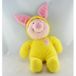 Doudou cochon Porcinet pyjama jaune DISNEY NEUF