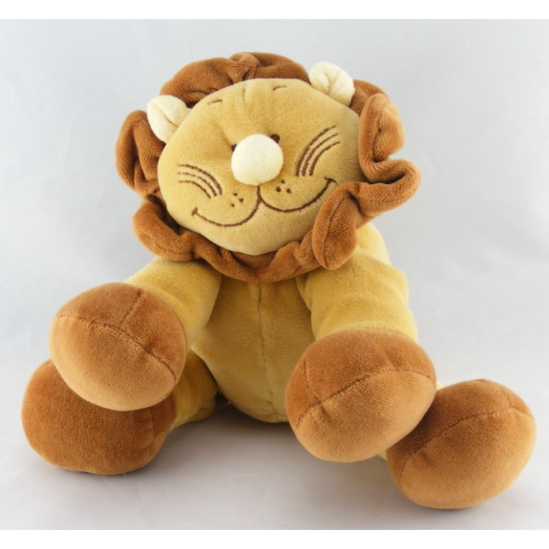 Doudou lion marron beige NOUKIE'S