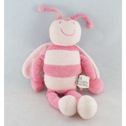 Doudou abeille papillon rose rayé MARESE