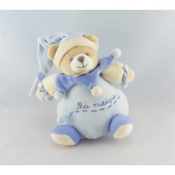 Doudou et compagnie musical ours Léo bleu Ma Musique
