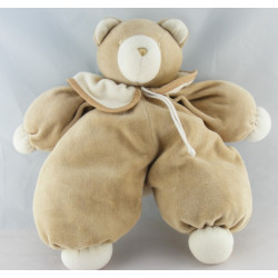 Grand Doudou ours beige col blanc MOULIN ROTY