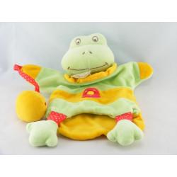 Doudou et compagnie marionnette grenouille verte avec canard