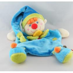 Doudou plat clown bleu NICOTOY