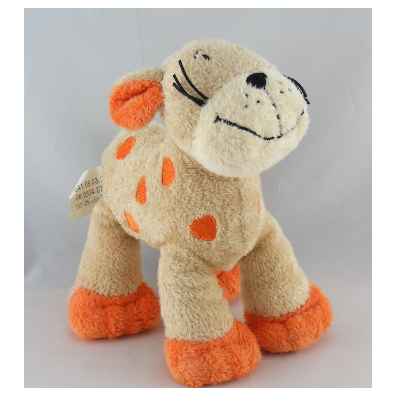 Doudou tigre chat beige orange NICOTOY