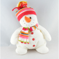 Doudou bonhomme de neige rouge blanc PETIT BATEAU