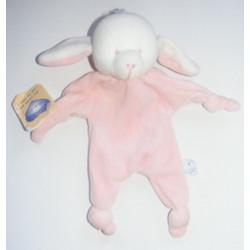 Doudou plat orange chien les jouets ont un coeur BLANCHET