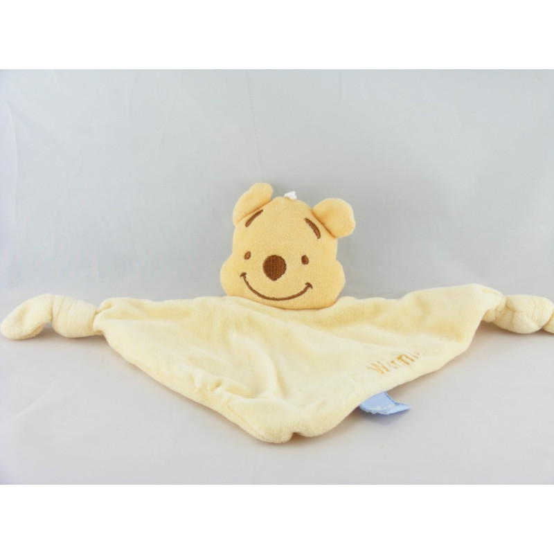 Doudou Plat Winnie l'Ourson Jaune Disney Baby