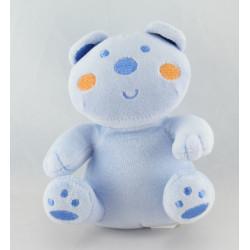 Mini doudou ours bleu AUCHAN