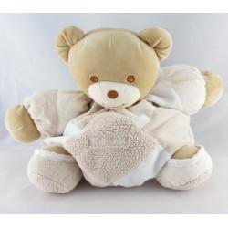 Doudou ours boule ecru beige blanc TAKINOU