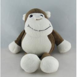 Doudou singe marron blanc SIP TOYS