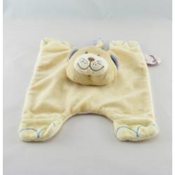 Doudou plat chat renard beige bleu BENGY