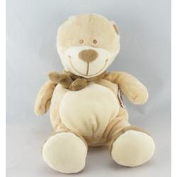 Doudou bébé ours beige foulard vert AMTOYS BENGY