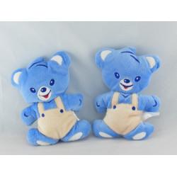 Doudou hochet ours bleu salopette NESTLE