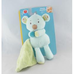 Doudou ours koala bleu Zen SYSTEME U