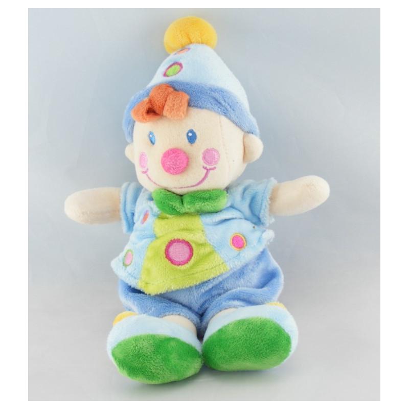 Doudou clown bleu NICOTOY