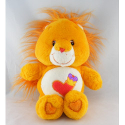 Peluche Bisounours lion orange coeur Toubrave CARE BEARS