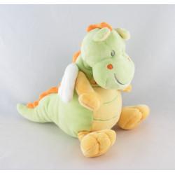 Doudou dragon vert jaune NICOTOY