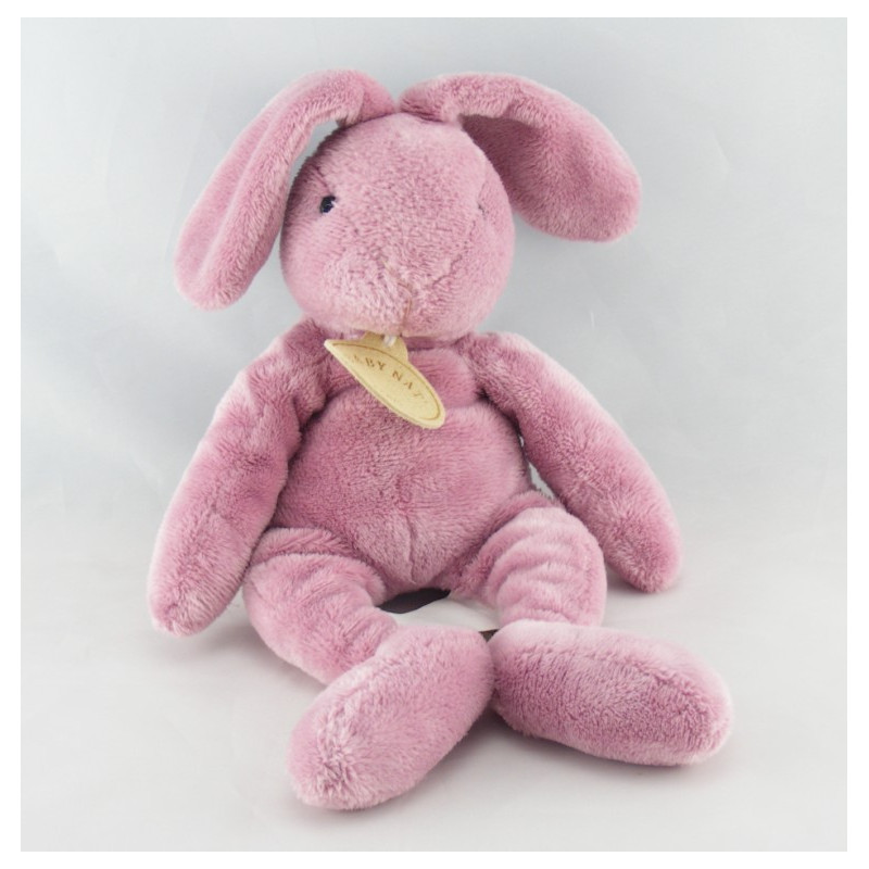 Doudou lapin rose bordeaux BABY NAT
