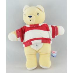 Doudou ours jaune SUCRE D'ORGE