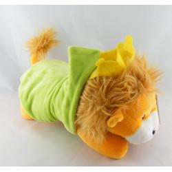 Doudou plat dentition Simon lion jaune orange DUPUIS