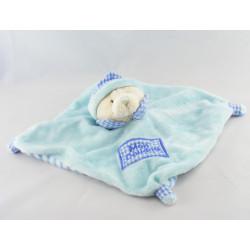 Doudou plat grenouille bleu vert CP INTERNATIONAL