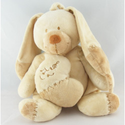 Doudou musical lapin beige écru coeur NICOTOY