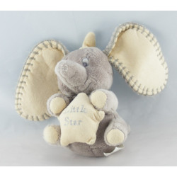 Doudou éléphant gris Dumbo NICOTOY