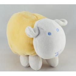 Doudou agneau mouton jaune bleu TEX