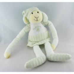 Doudou luminou mouton vert pyjama JEMINI