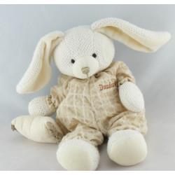Doudou lapin beige avec coussin laine DOUDOU ET COMPAGNIE
