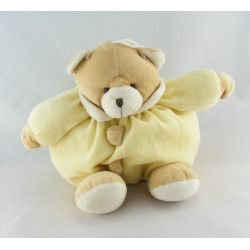 Doudou ours beige combinaison lapin jaune MAXITA