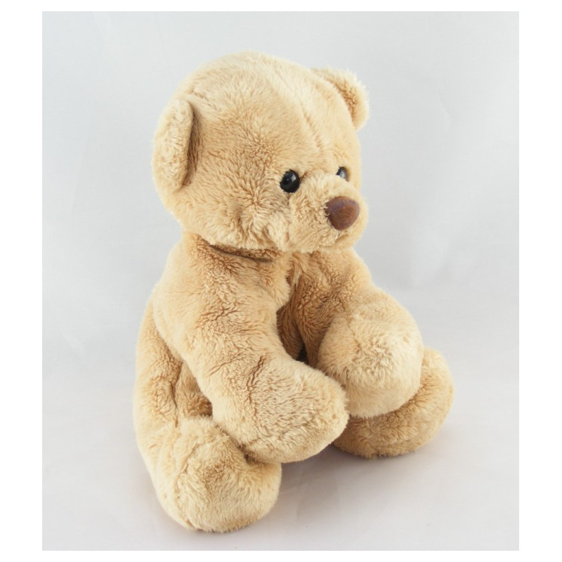 Doudou ours boule beige jaune MAXITA