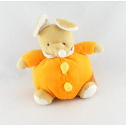 Doudou chien lapin ecru marron BABY CLUB