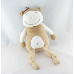 Doudou cheval vache girafe beige blanc Cocoon La Redoute