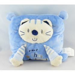 Doudou chat bleu je suis un chat comme ça NICOTOY