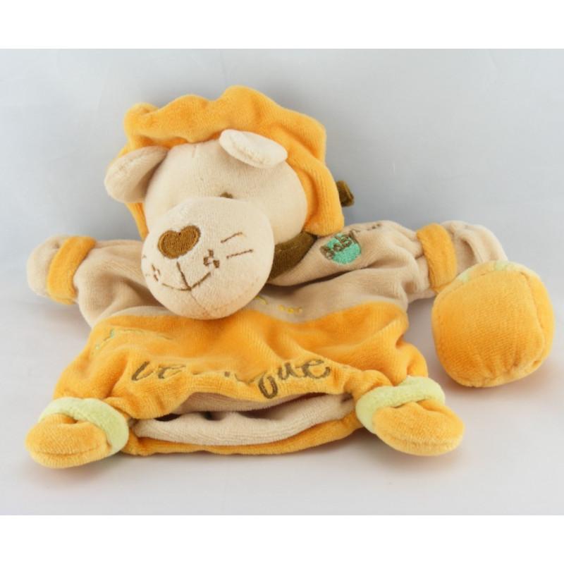 Doudou plat marionnette lion Adam BABY NAT
