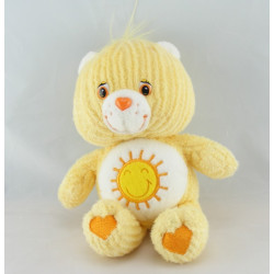 Peluche Bisounours jaune soleil  Grosjojo CARE BEARS 33 cm