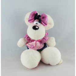 Doudou souris robe rose princesse Diddlina DIDDL