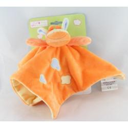 Doudou plat vache girafe orange nuage DOUKIDOU NEUF