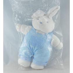 Doudou lapin blanc salopette bleu KLORANE