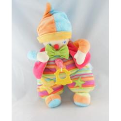 Doudou musical lumineux clown multicolore étoile COROLLE