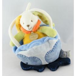 Doudou et compagnie musical lapin vert jaune nuage bleu
