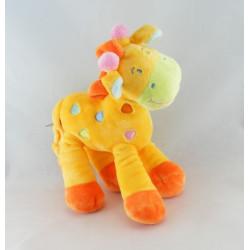 Doudou Girafe jaune MOTS D'ENFANTS