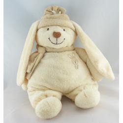 Grand Doudou lapin ecru beige NICOTOY