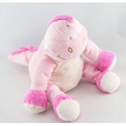 Doudou plat dinosaure rose BENGY