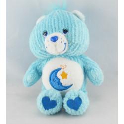 Peluche Bisounours bleu Grosdodo lune étoile CARE BEARS 23 cm