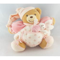 Doudou ours patapouf rose fleurs Lilirose Kaloo