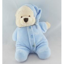 Doudou winnie l'ourson en pyjama bleu DISNEY