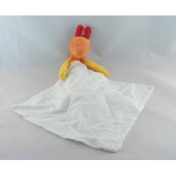 Doudou Kangourou orange rouge mouchoir SUCRE D'ORGE