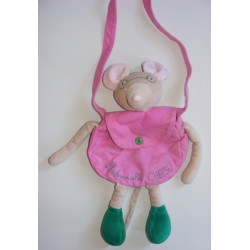 Doudou souris mademoiselle Cheese robe rose MOULIN ROTY